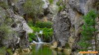 Pasarelas de Calomarde en el barranco de la Hoz