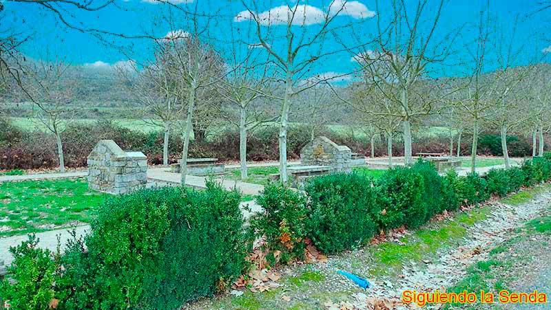 Zona de picnic en la ruta por la Foz de Lumbier