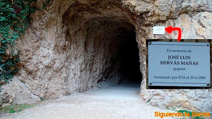 Segundo túnel en la ruta por la Foz de Lumbier