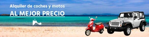 Dónde alquilar coche o moto en Formentera